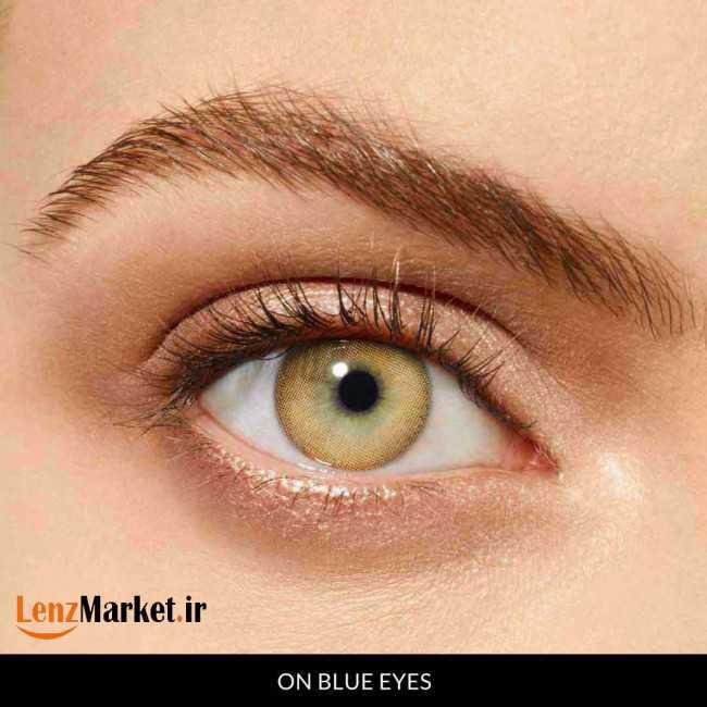 لنز چشم عسلی 2